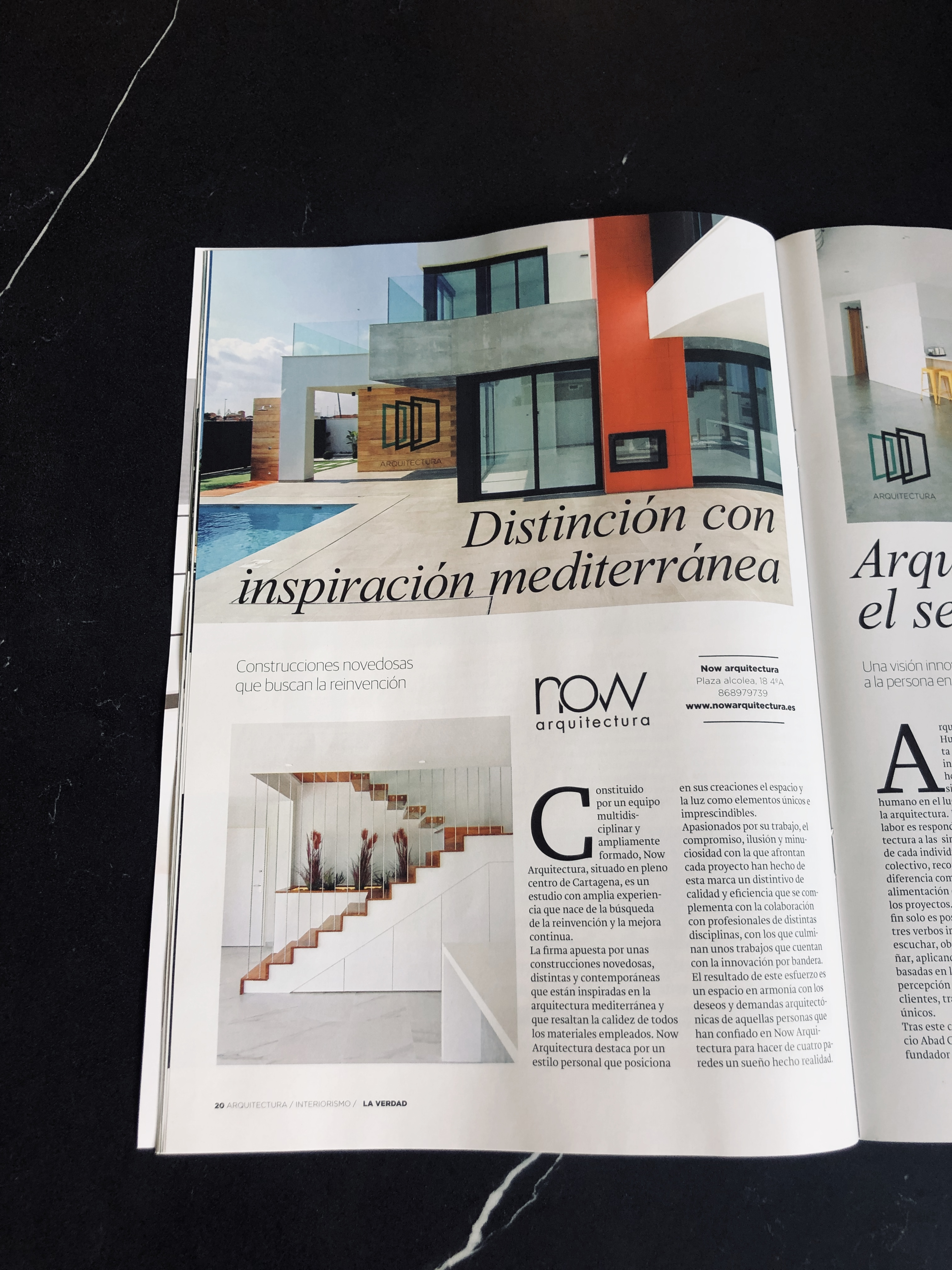 "We are published in the autumn magazine ""Arquitectura Interiorismo"" of the newspaper ""La Verdad"""